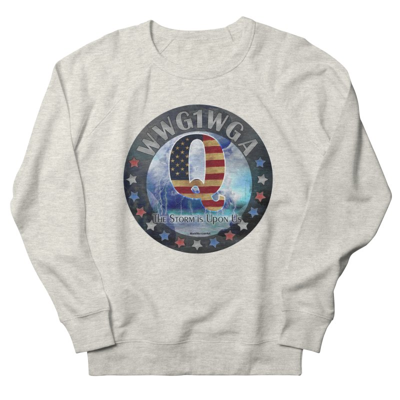 Q-Anon: The Storm is Upon Us Men's French Terry Sweatshirt by InspiredPsychedelics's Artist Shop