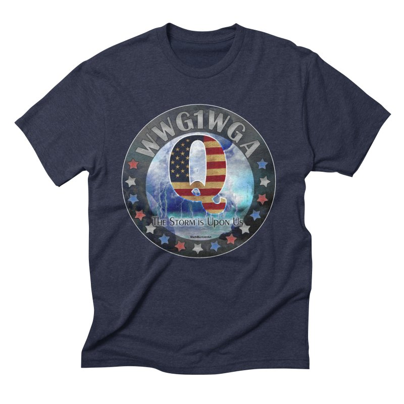 Q-Anon: The Storm is Upon Us Men's Triblend T-Shirt by InspiredPsychedelics's Artist Shop