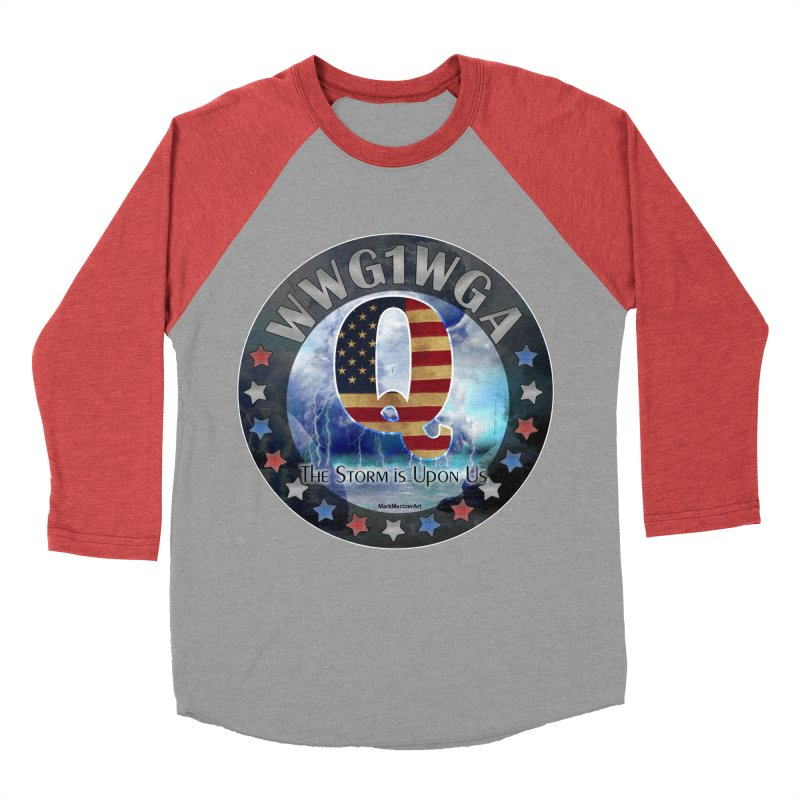 Q-Anon: The Storm is Upon Us Women's Baseball Triblend Longsleeve T-Shirt by InspiredPsychedelics's Artist Shop