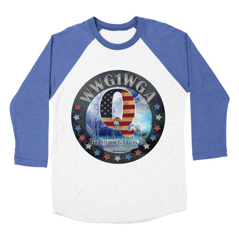 Q-Anon: The Storm is Upon Us Men's Baseball Triblend Longsleeve T-Shirt by InspiredPsychedelics's Artist Shop