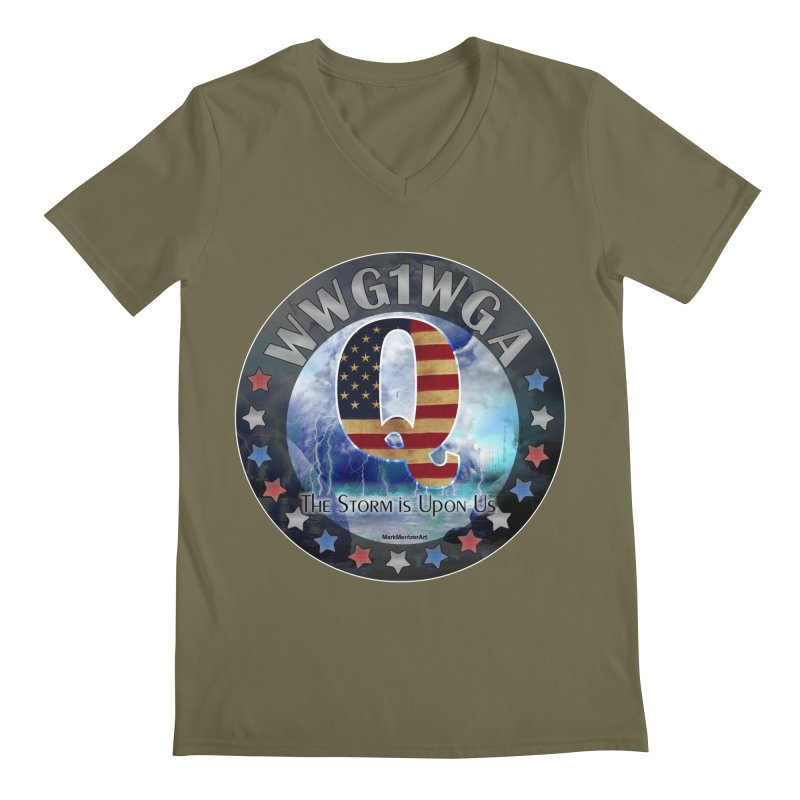 Q-Anon: The Storm is Upon Us Men's Regular V-Neck by InspiredPsychedelics's Artist Shop