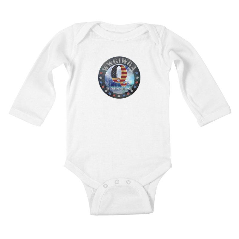 Q-Anon: The Storm is Upon Us Kids Baby Longsleeve Bodysuit by InspiredPsychedelics's Artist Shop