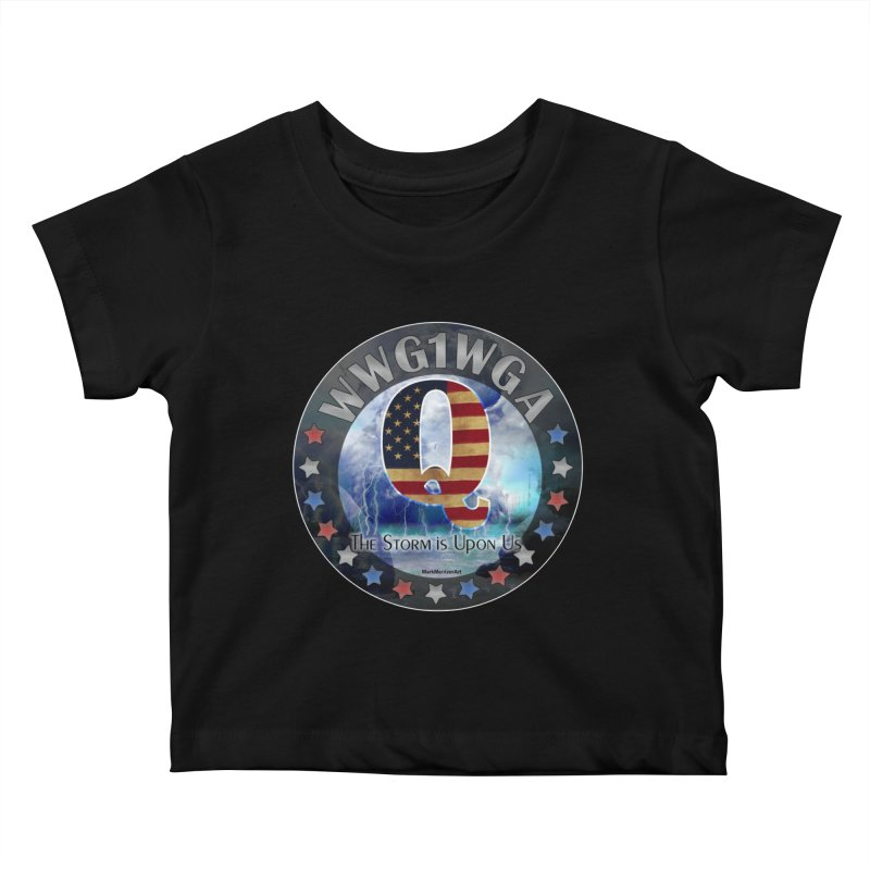 Q-Anon: The Storm is Upon Us Kids Baby T-Shirt by InspiredPsychedelics's Artist Shop