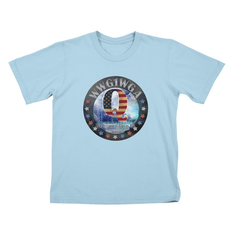 Q-Anon: The Storm is Upon Us Kids T-Shirt by InspiredPsychedelics's Artist Shop