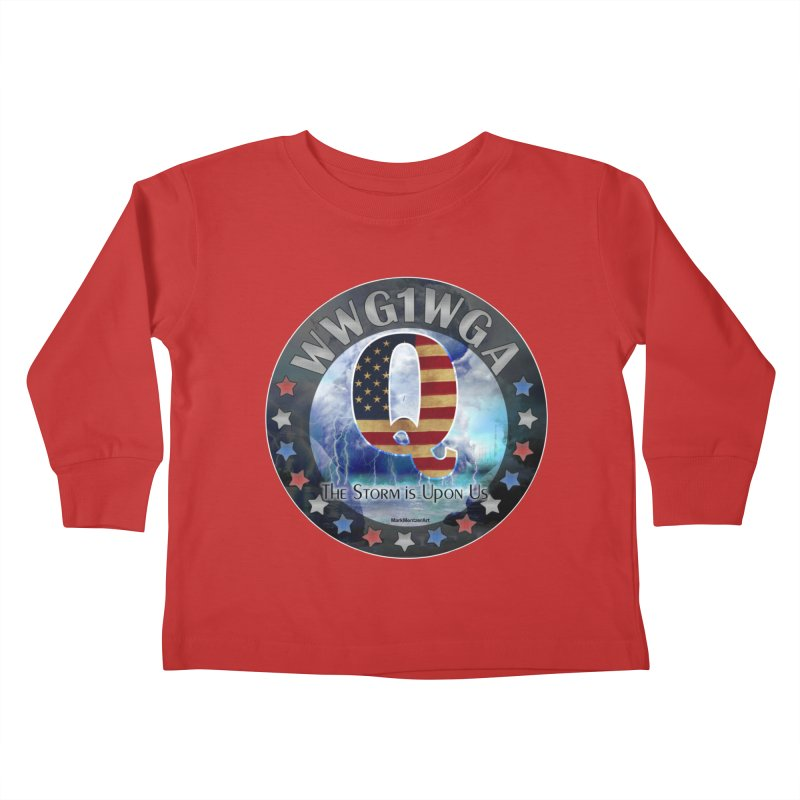 Q-Anon: The Storm is Upon Us Kids Toddler Longsleeve T-Shirt by InspiredPsychedelics's Artist Shop