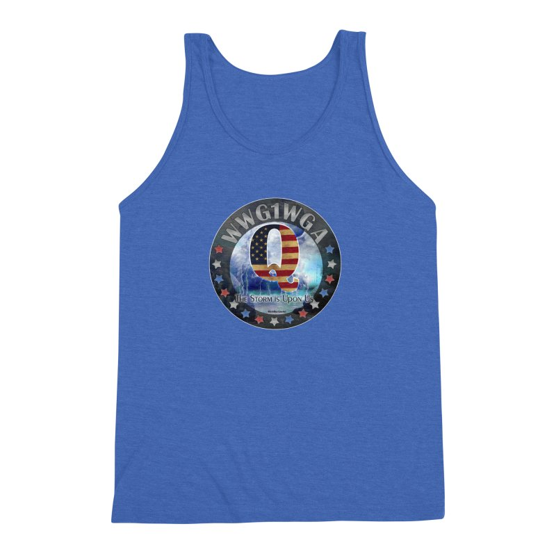Q-Anon: The Storm is Upon Us Men's Triblend Tank by InspiredPsychedelics's Artist Shop