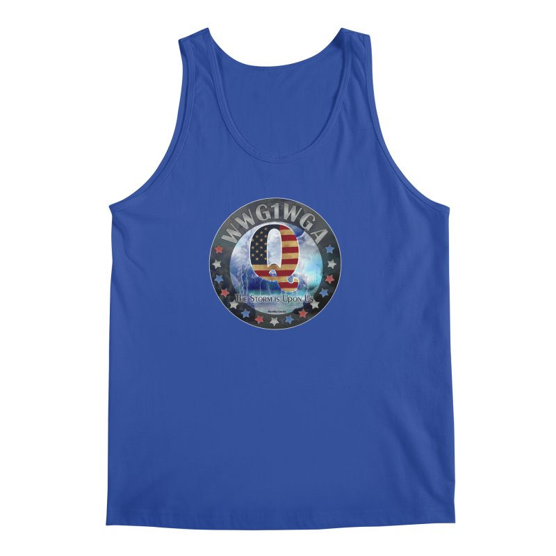 Q-Anon: The Storm is Upon Us Men's Regular Tank by InspiredPsychedelics's Artist Shop