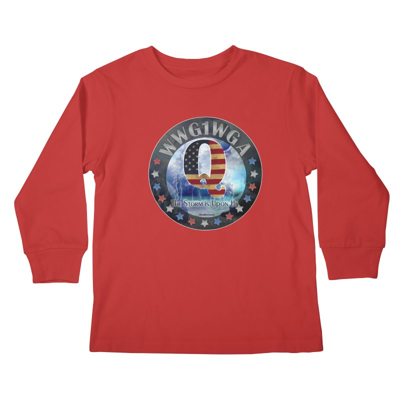 Q-Anon: The Storm is Upon Us Kids Longsleeve T-Shirt by InspiredPsychedelics's Artist Shop