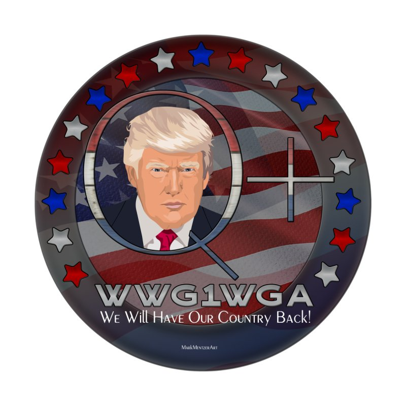 Q+ - We Will Have Our Country Back - WWG1WGA by InspiredPsychedelics's Artist Shop