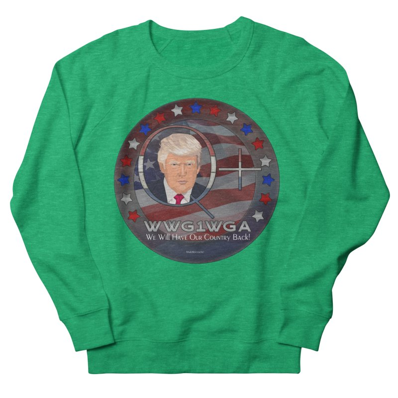 Q+ - We Will Have Our Country Back - WWG1WGA Men's French Terry Sweatshirt by InspiredPsychedelics's Artist Shop