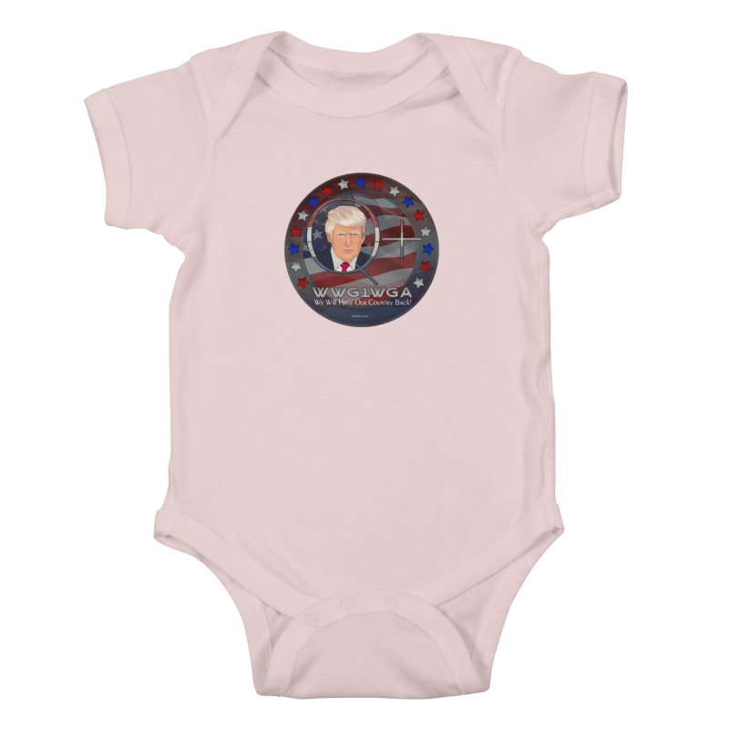 Q+ - We Will Have Our Country Back - WWG1WGA Kids Baby Bodysuit by InspiredPsychedelics's Artist Shop