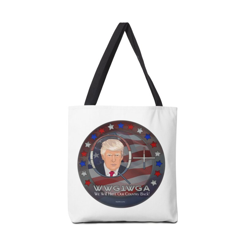 Q+ - We Will Have Our Country Back - WWG1WGA Accessories Bag by InspiredPsychedelics's Artist Shop