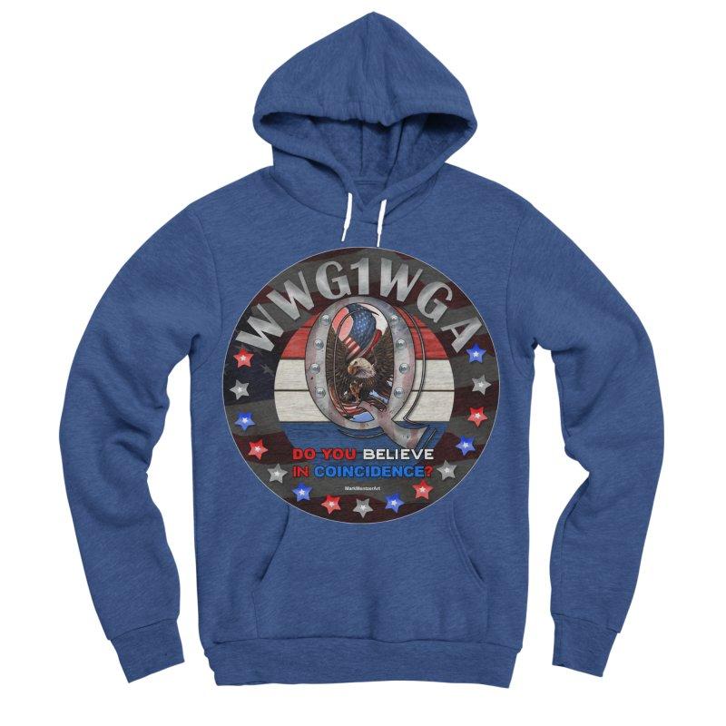 Q-Anon - Do You Believe in Coincidence? - WWG1WGA Men's Sponge Fleece Pullover Hoody by InspiredPsychedelics's Artist Shop