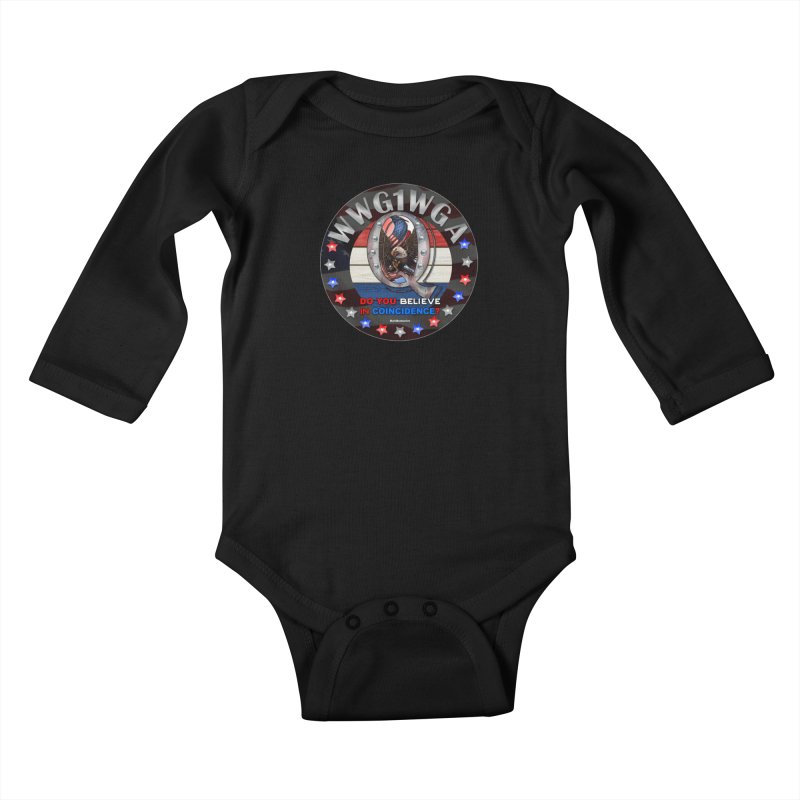 Q-Anon - Do You Believe in Coincidence? - WWG1WGA Kids Baby Longsleeve Bodysuit by InspiredPsychedelics's Artist Shop