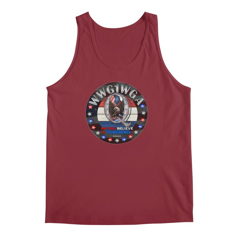 Q-Anon - Do You Believe in Coincidence? - WWG1WGA Men's Regular Tank by InspiredPsychedelics's Artist Shop