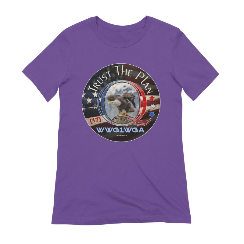 Q, Q-Anon, Trust the Plan, WWG1WGA, [17] Women's Extra Soft T-Shirt by InspiredPsychedelics's Artist Shop