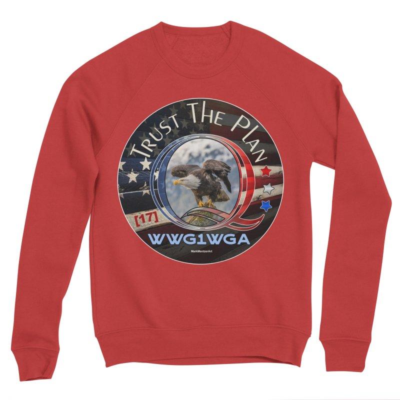 Q, Q-Anon, Trust the Plan, WWG1WGA, [17] Men's Sponge Fleece Sweatshirt by InspiredPsychedelics's Artist Shop