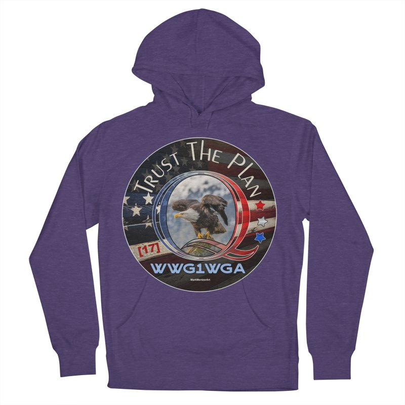 Q, Q-Anon, Trust the Plan, WWG1WGA, [17] Women's French Terry Pullover Hoody by InspiredPsychedelics's Artist Shop