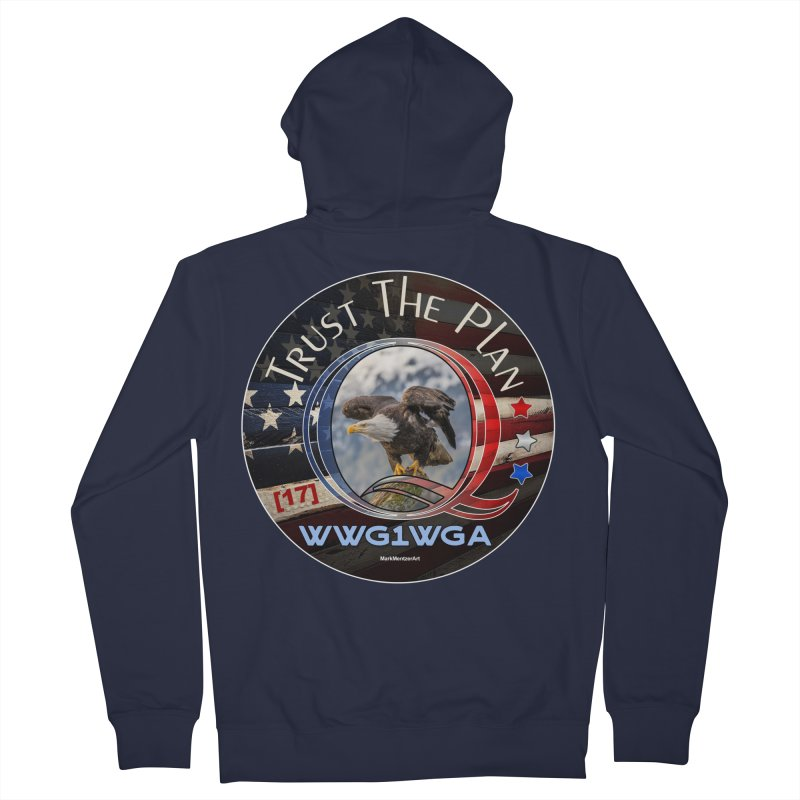 Q, Q-Anon, Trust the Plan, WWG1WGA, [17] Women's French Terry Zip-Up Hoody by InspiredPsychedelics's Artist Shop