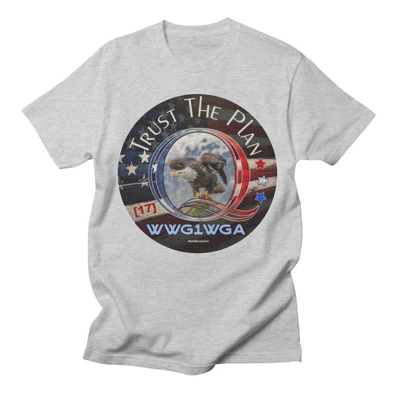 Q, Q-Anon, Trust the Plan, WWG1WGA, [17] Men's Regular T-Shirt by InspiredPsychedelics's Artist Shop