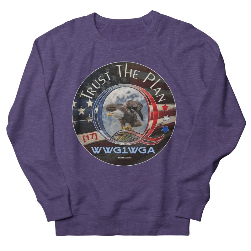 Q, Q-Anon, Trust the Plan, WWG1WGA, [17] Women's French Terry Sweatshirt by InspiredPsychedelics's Artist Shop
