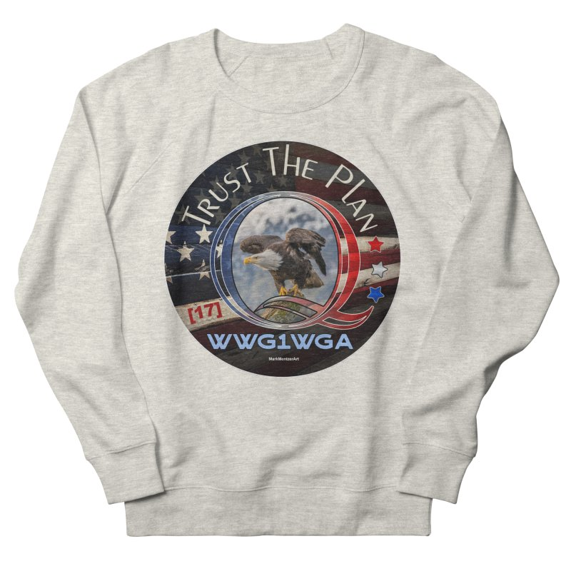 Q, Q-Anon, Trust the Plan, WWG1WGA, [17] Men's French Terry Sweatshirt by InspiredPsychedelics's Artist Shop