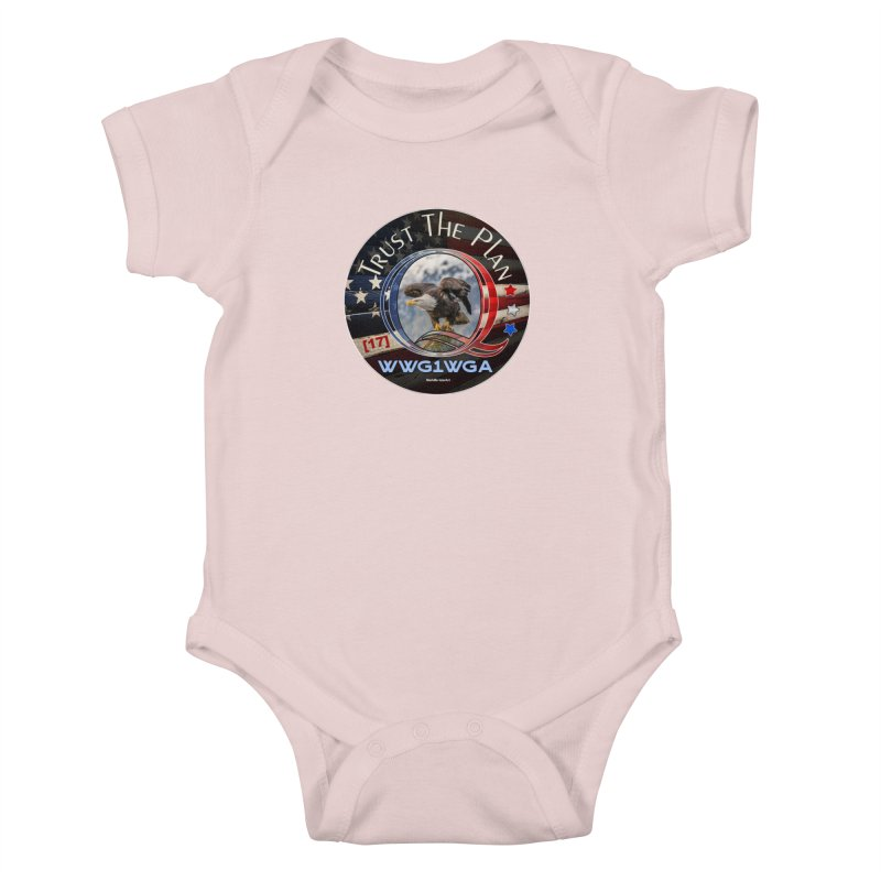 Q, Q-Anon, Trust the Plan, WWG1WGA, [17] Kids Baby Bodysuit by InspiredPsychedelics's Artist Shop