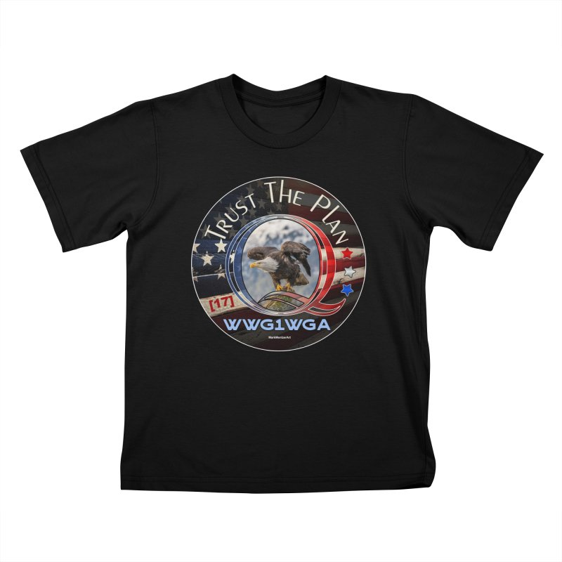 Q, Q-Anon, Trust the Plan, WWG1WGA, [17] Kids T-Shirt by InspiredPsychedelics's Artist Shop