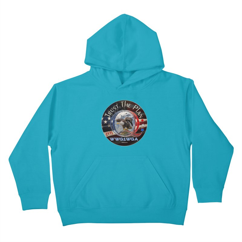 Q, Q-Anon, Trust the Plan, WWG1WGA, [17] Kids Pullover Hoody by InspiredPsychedelics's Artist Shop