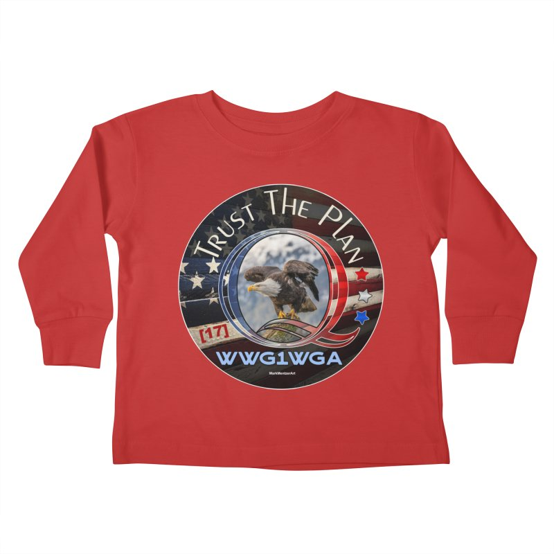 Q, Q-Anon, Trust the Plan, WWG1WGA, [17] Kids Toddler Longsleeve T-Shirt by InspiredPsychedelics's Artist Shop