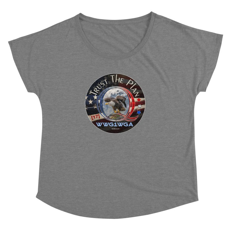 Q, Q-Anon, Trust the Plan, WWG1WGA, [17] Women's Dolman Scoop Neck by InspiredPsychedelics's Artist Shop