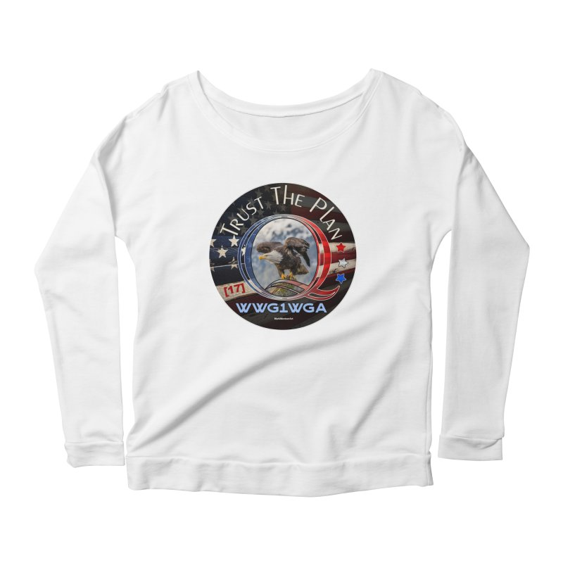 Q, Q-Anon, Trust the Plan, WWG1WGA, [17] Women's Scoop Neck Longsleeve T-Shirt by InspiredPsychedelics's Artist Shop