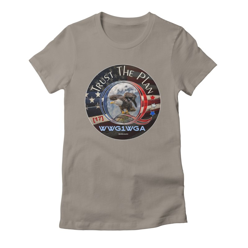 Q, Q-Anon, Trust the Plan, WWG1WGA, [17] Women's Fitted T-Shirt by InspiredPsychedelics's Artist Shop