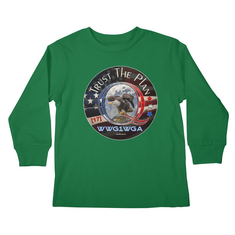 Q, Q-Anon, Trust the Plan, WWG1WGA, [17] Kids Longsleeve T-Shirt by InspiredPsychedelics's Artist Shop