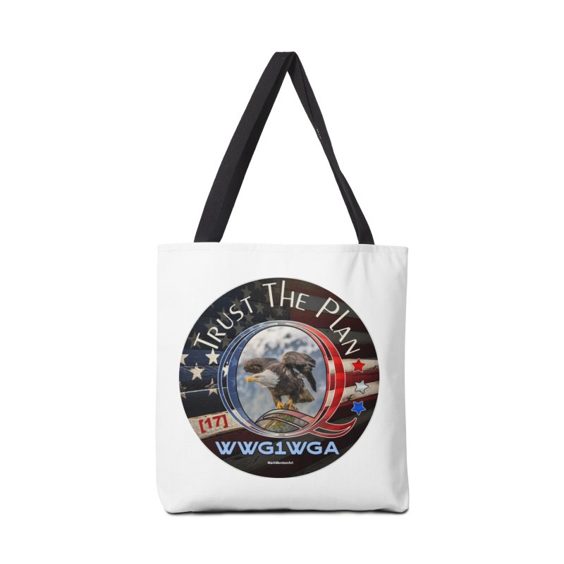 Q, Q-Anon, Trust the Plan, WWG1WGA, [17] Accessories Bag by InspiredPsychedelics's Artist Shop
