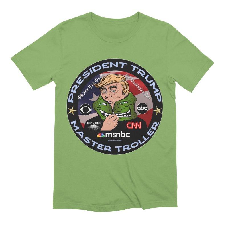 Donald Trump - Master Troller - Battling Fake News Men's Extra Soft T-Shirt by InspiredPsychedelics's Artist Shop