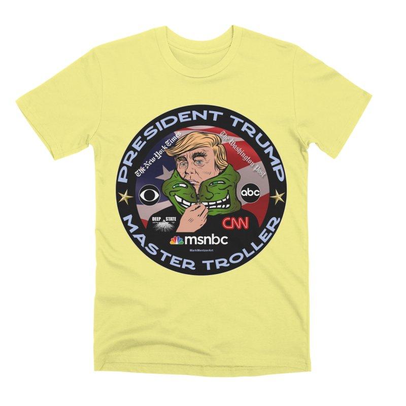Donald Trump - Master Troller - Battling Fake News Men's Premium T-Shirt by InspiredPsychedelics's Artist Shop