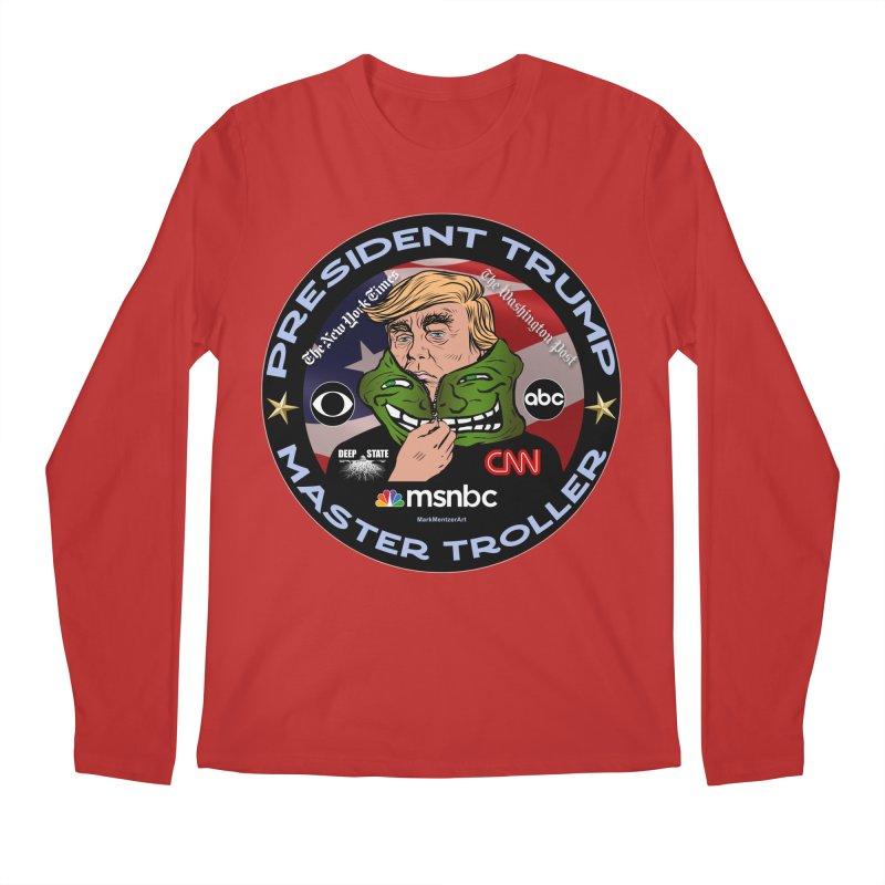 Donald Trump - Master Troller - Battling Fake News Men's Regular Longsleeve T-Shirt by InspiredPsychedelics's Artist Shop
