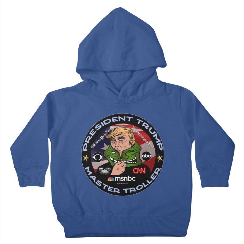 Donald Trump - Master Troller - Battling Fake News Kids Toddler Pullover Hoody by InspiredPsychedelics's Artist Shop