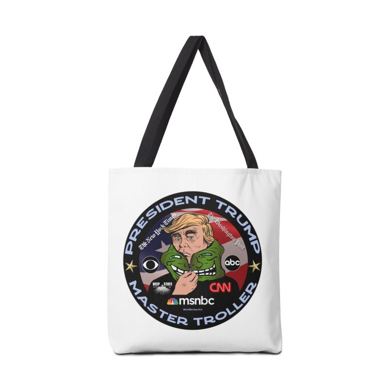 Donald Trump - Master Troller - Battling Fake News Accessories Bag by InspiredPsychedelics's Artist Shop