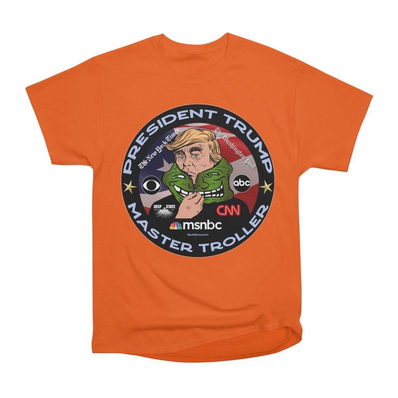 President Trump - Master Troller (2019) Men's Heavyweight T-Shirt by InspiredPsychedelics's Artist Shop
