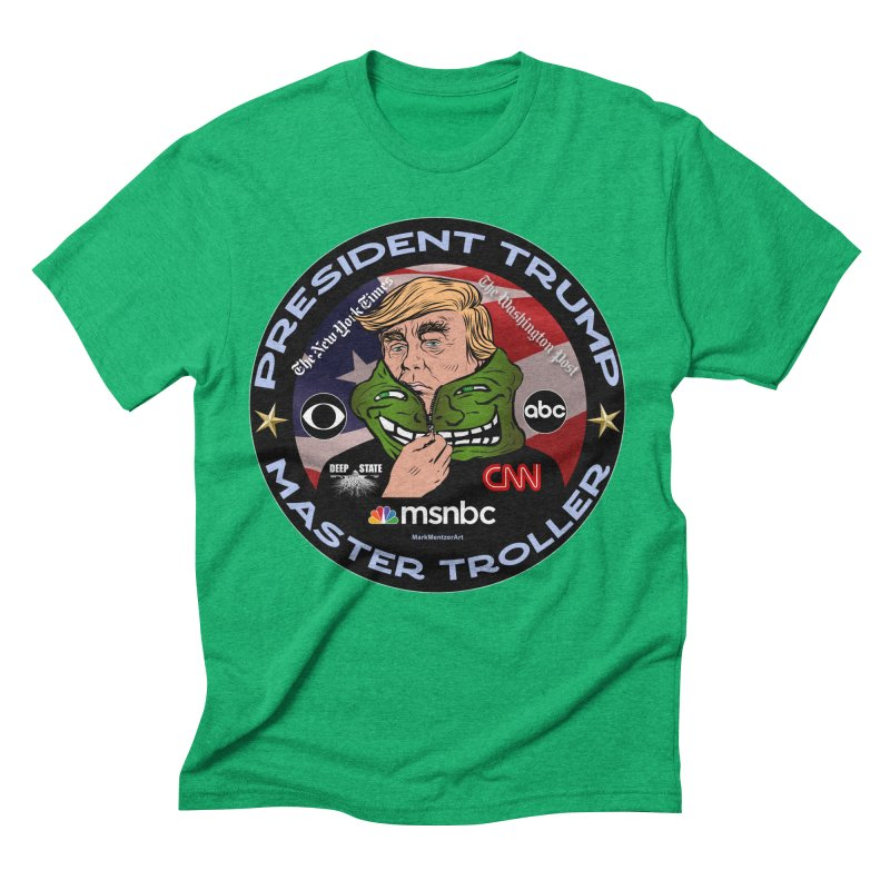 President Trump - Master Troller (2019) Men's Triblend T-Shirt by InspiredPsychedelics's Artist Shop