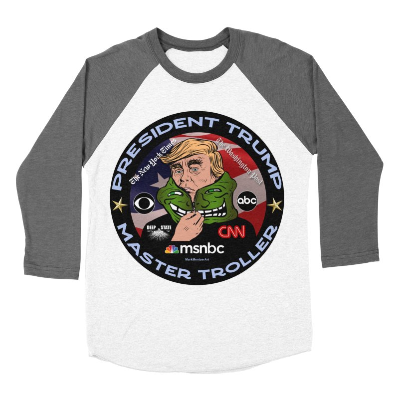 President Trump - Master Troller (2019) Men's Baseball Triblend Longsleeve T-Shirt by InspiredPsychedelics's Artist Shop