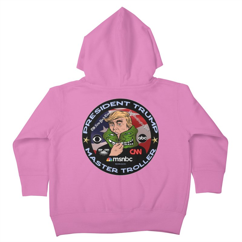 President Trump - Master Troller (2019) Kids Toddler Zip-Up Hoody by InspiredPsychedelics's Artist Shop