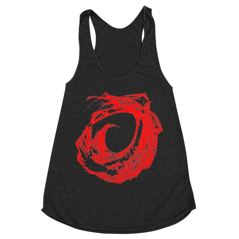 Zero G Wave of Fire Women's Racerback Triblend Tank by Irresponsible People Black T-Shirts