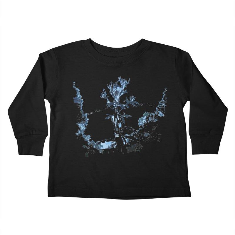 Plants of Mars Kids Toddler Longsleeve T-Shirt by Irresponsible People Black T-Shirts