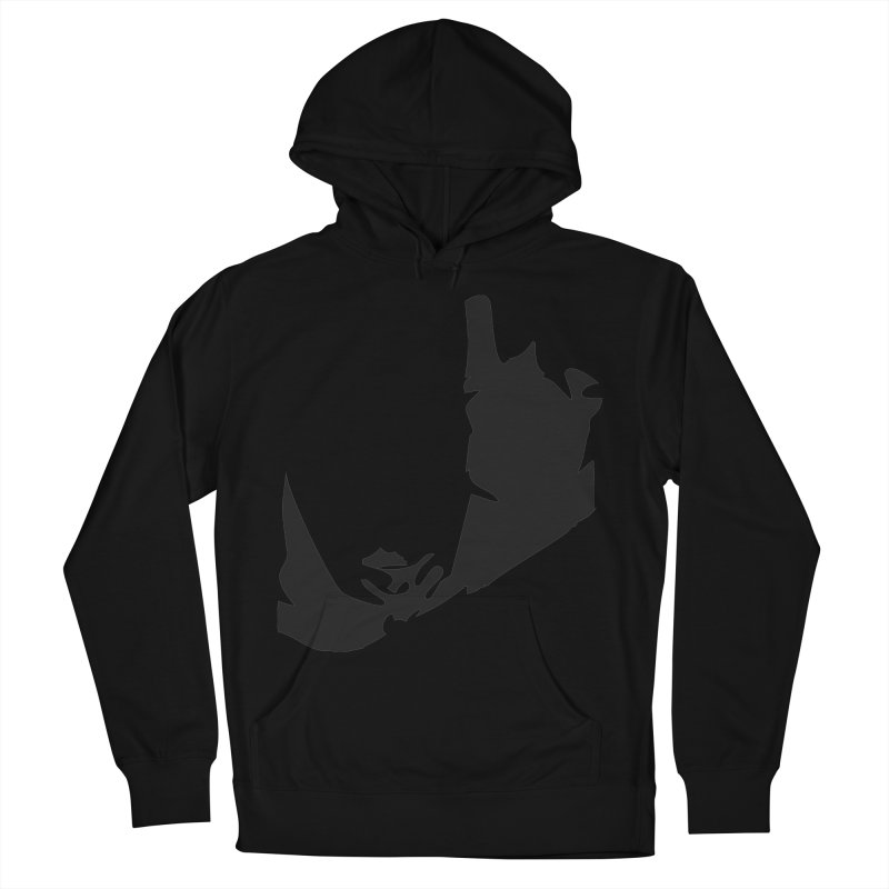 Ravine of Shadow Women's French Terry Pullover Hoody by Irresponsible People Black T-Shirts