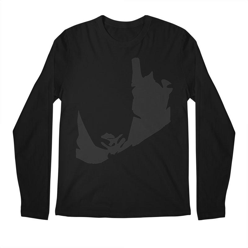 Ravine of Shadow Men's Regular Longsleeve T-Shirt by Irresponsible People Black T-Shirts