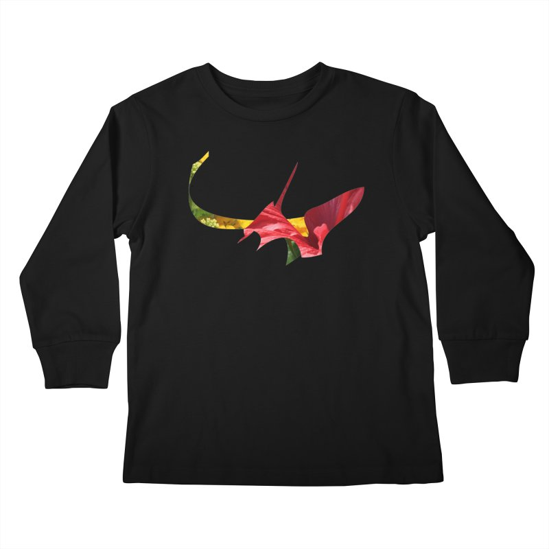 Bird of Prey Kids Longsleeve T-Shirt by Irresponsible People Black T-Shirts