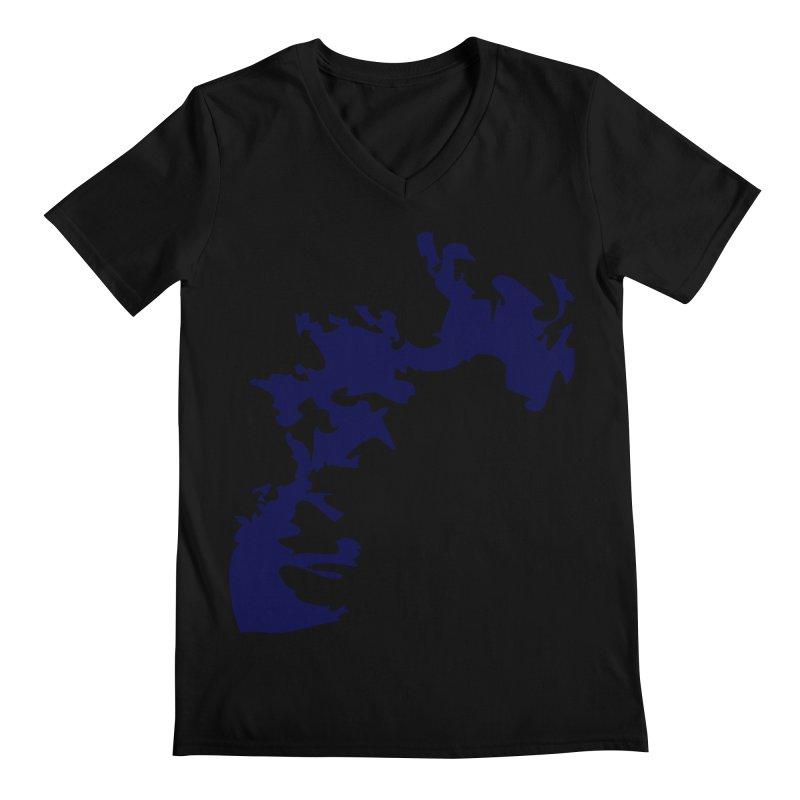 Vision of the deep beyond Men's Regular V-Neck by Irresponsible People Black T-Shirts
